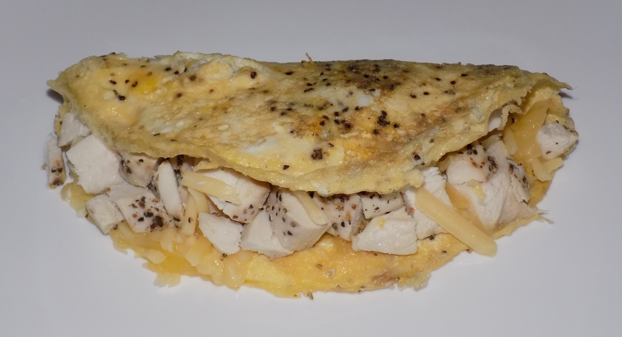 Chicken & Cheese Omelette