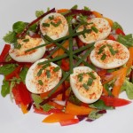 Deviled Eggs with Mixed Salad
