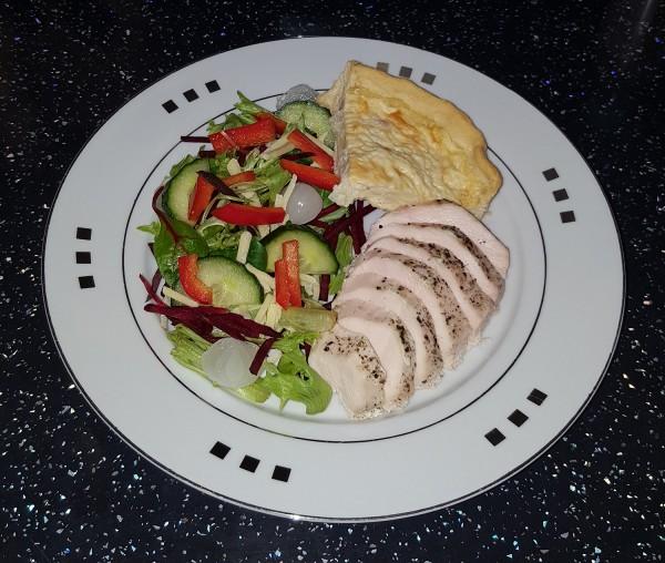 Quiche & Chicken Salad